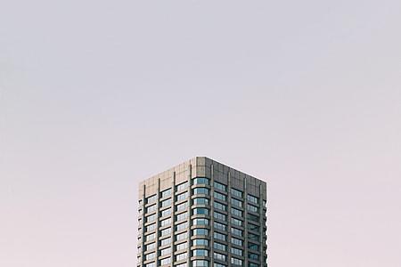 high angle photo of building