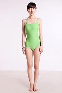 women's green monokini