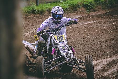 ATV racing on mud terrain