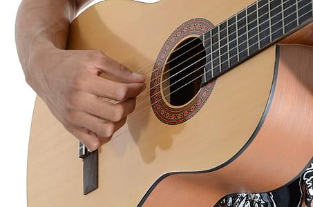 Beige Classical Guitar