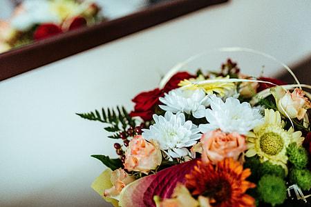 Flowers arranged in a beautiful bouquet