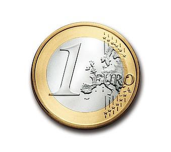 1 European dollar coin