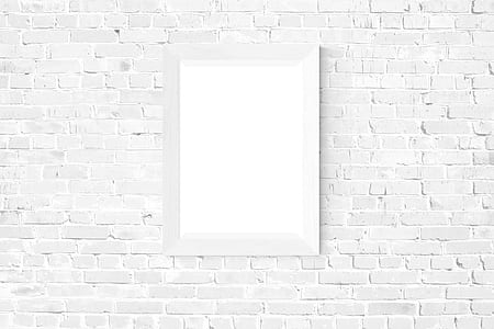 wall mirror with white wooden frame