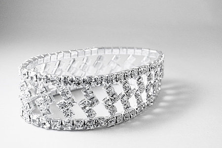 clear stone encrusted bracelet