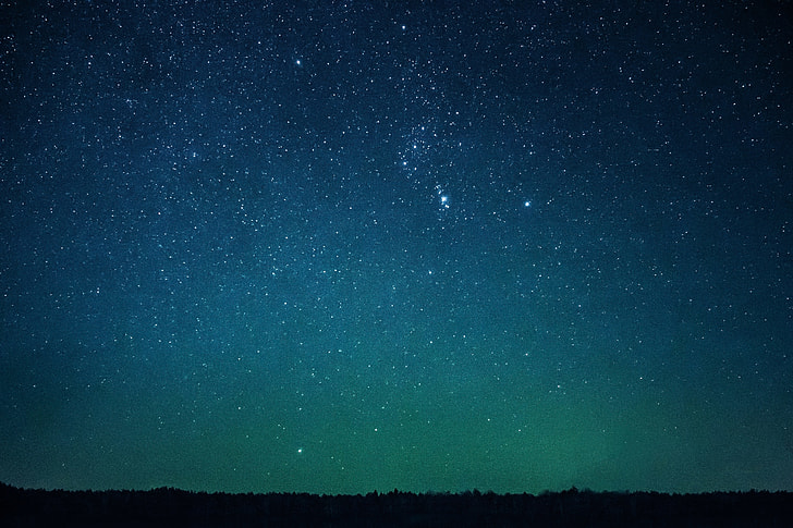 night sky stars view