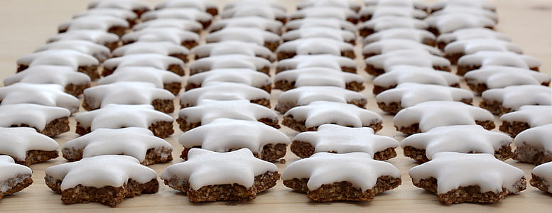 brown and white cookies