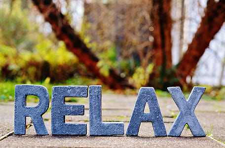 Relax cut-out letters