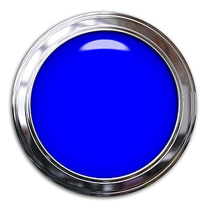round gray and blue frame