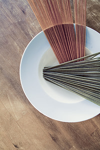 brown and gray incense on white ceramic bowl