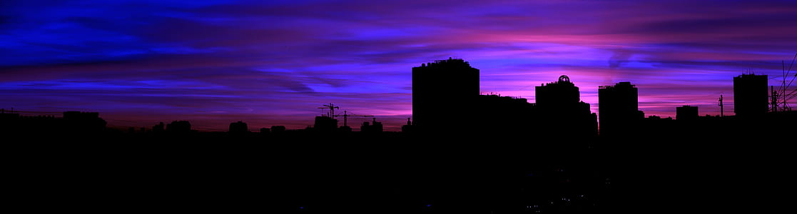 city silhouette landscape photography