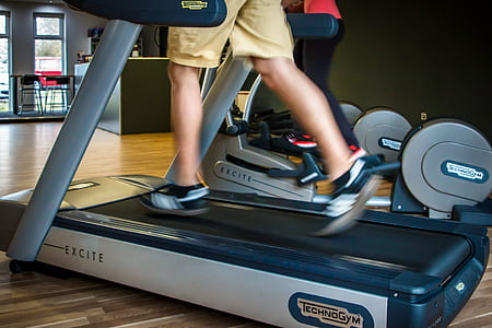 person ride on Excite treadmill