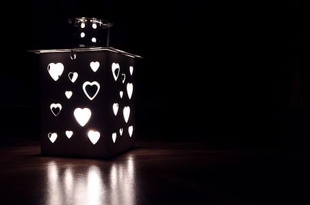 photo of illuminated lantern