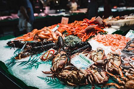 La Boqueria food market Barcelona Spain