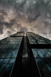 high rise building under dark sky