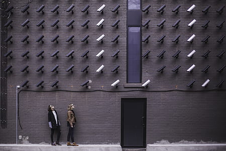 CCTV camera focused on two persons