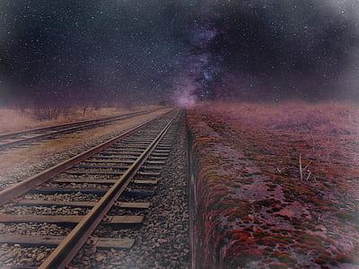 brown metal train rail