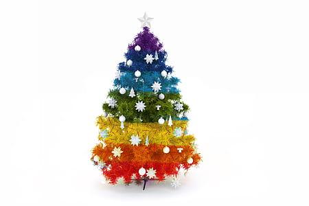 multi-colored Christmas tree
