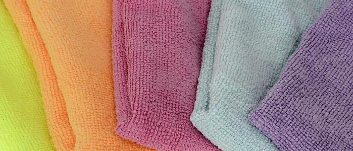 several textiles