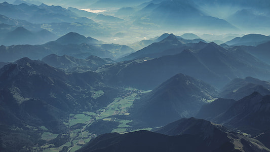 Mountain Landscape Morning Mist