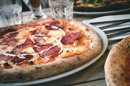 Italian pizza salami