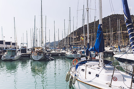 Port Ginesta harbor in Barcelona, Catalonia, Spain