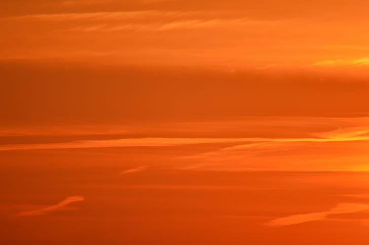 sky, orange, sunset, sunrise, twilight, atmosphere