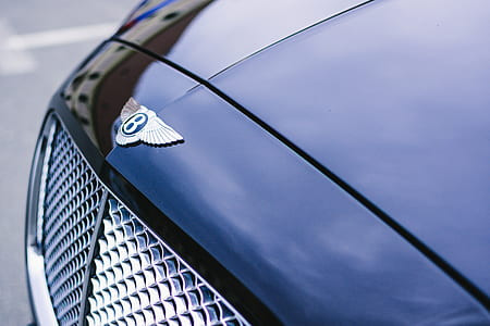 Blue Bentley Continental Gt Close Photography