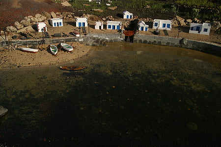 Aerial Photo of Boats Beside Body of Water
