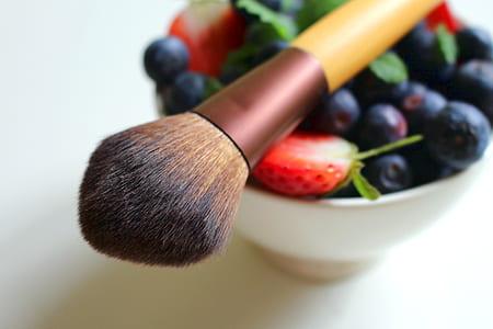 brown wooden makeup brush