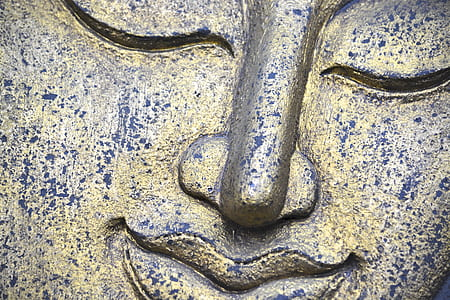 buddha, smile, buddhism, statue, gold, asia