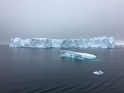 Landscape Photography of Glacier on Ocean