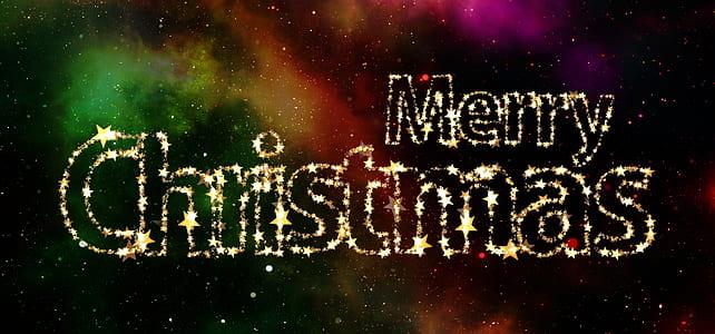 merry christmas galaxy text