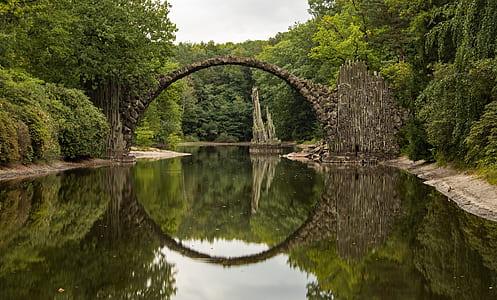 mirror photography of bridge