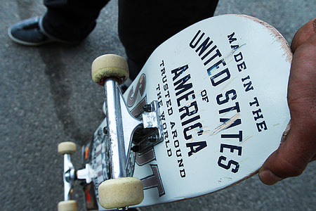 Overhead Skateboard Vintage