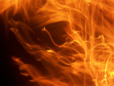 orange flame illustration