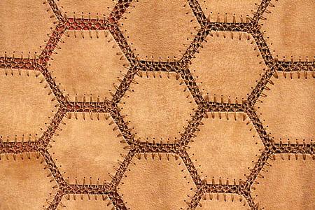 brown suede textile