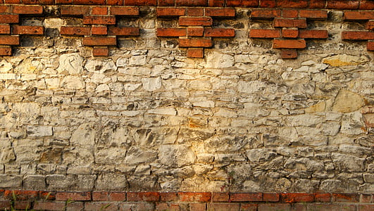 brown concrete wall bricks