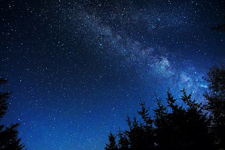 white stars at nighttime