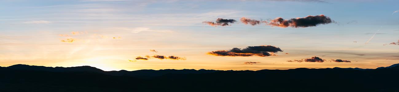 silhouette photo of mountain