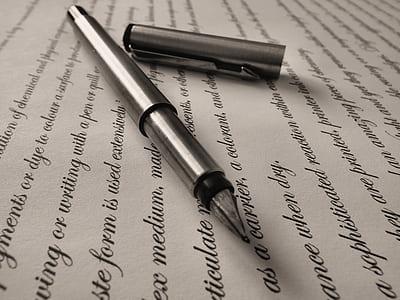 photo of gray fountain pen