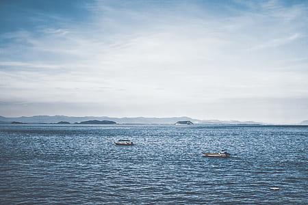 Two Boats in Ocean