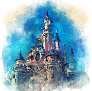 painting of castle