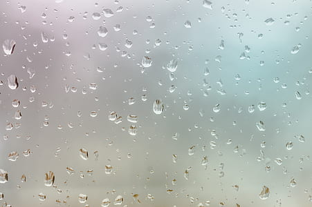 Closeup Photo of Clear Frosted Glass