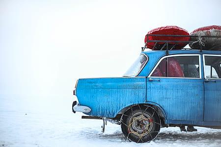 blue sedan illustration
