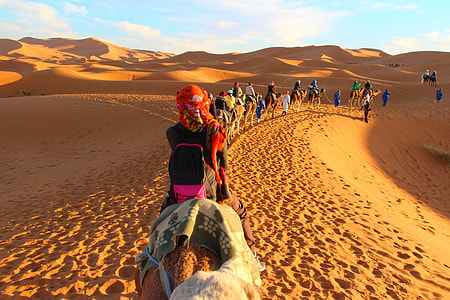 group of people on brown sand