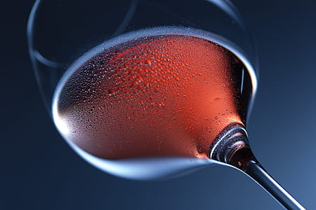 low angle closeup photography of wine glass