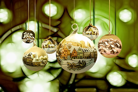 selective focus photography of assorted-color ornaments