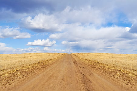 landscape photography of road