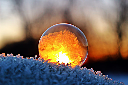 close up photography of glass ball