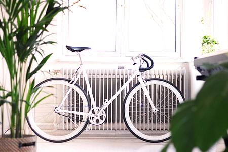 Minimal White Road Bike